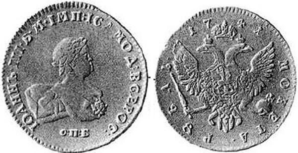 Рубль происхождение монета с арфой